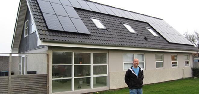 Solceller på hus