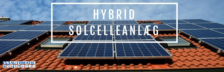 Hybrid solcelleanlæg på tag