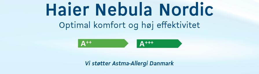 Haier nebula nordic varmepumpe
