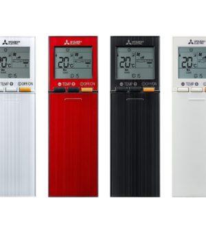 Mitsubishi varmepumpe HERO fjernbetjening flere farver