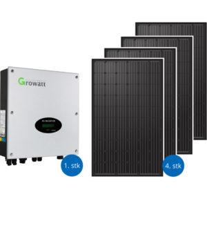 Solcellepakker 1200 watt