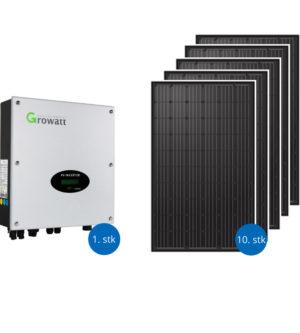 Solcellepakker 3000 watt