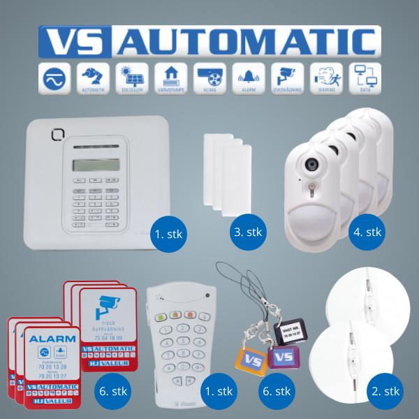 VS Automatic Alarmpakke videoovervgning
