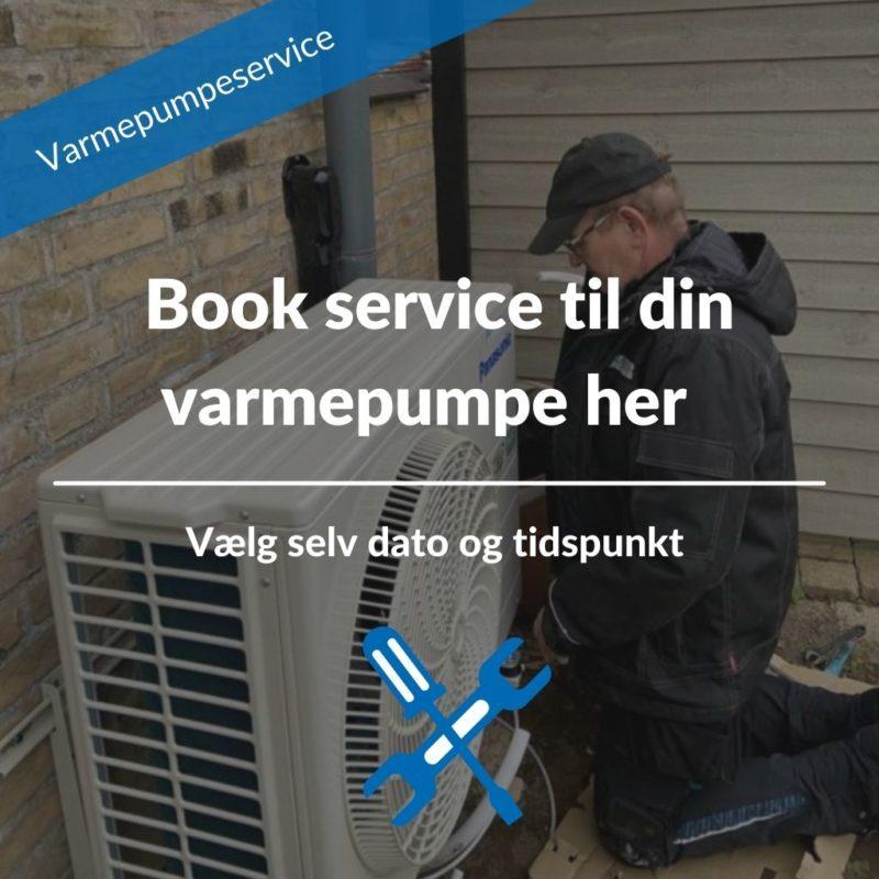 Varmepumpe service aftale book her